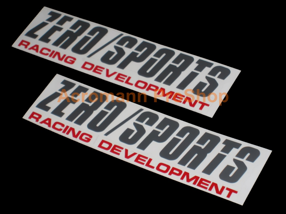 Zero Sports (ZERO/SPORTS) 6inch Decal (Style#4) x 2 pcs